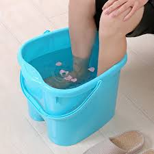Feet in bucket