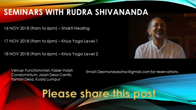 Seminars with rudra shivananda flyer