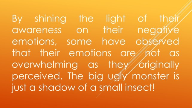 By shining the light of their awareness on