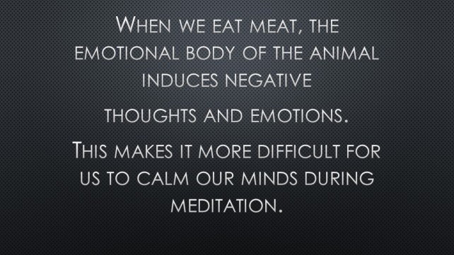 Eating meat - emotional body